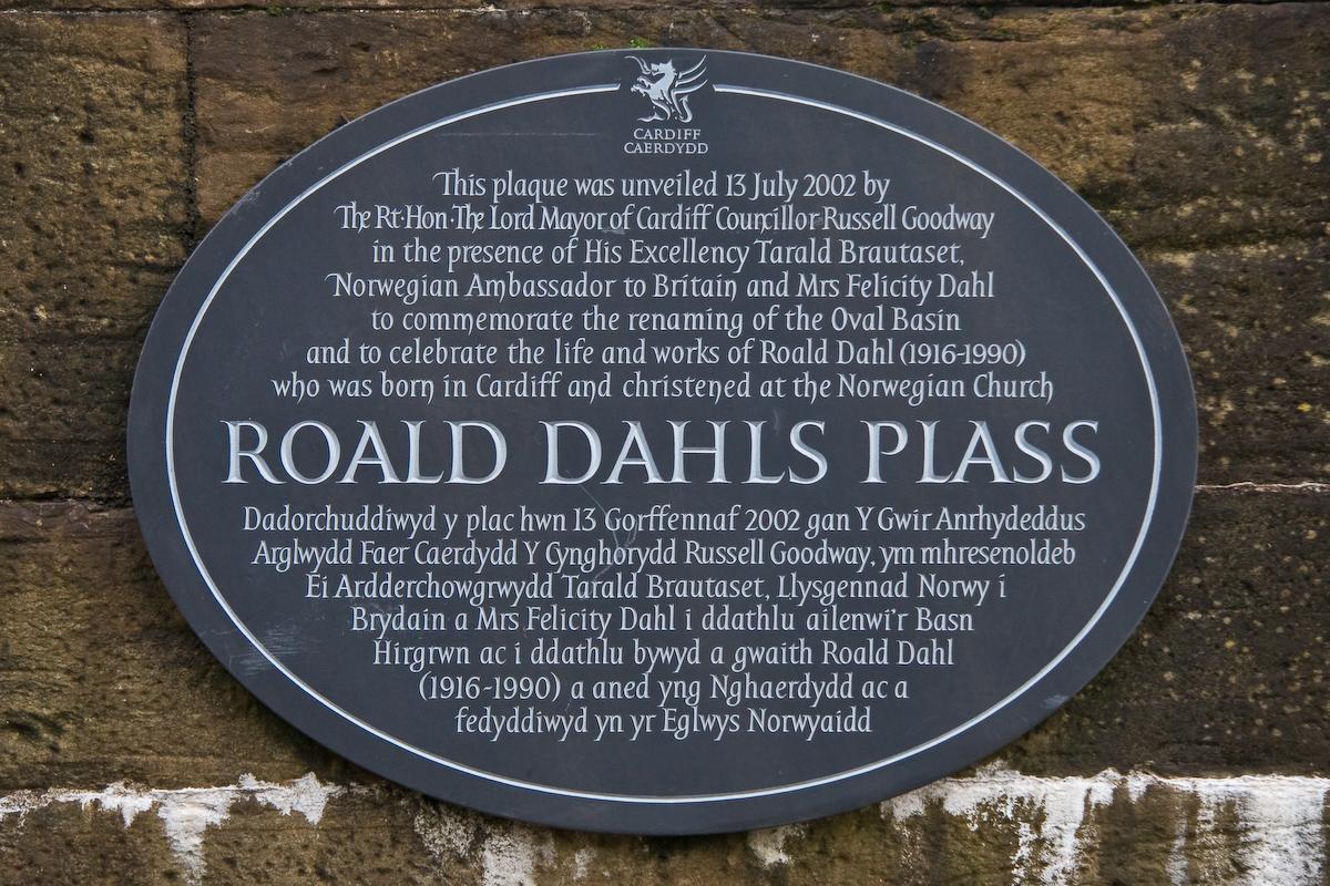 Roald Dahls Plass Plaque