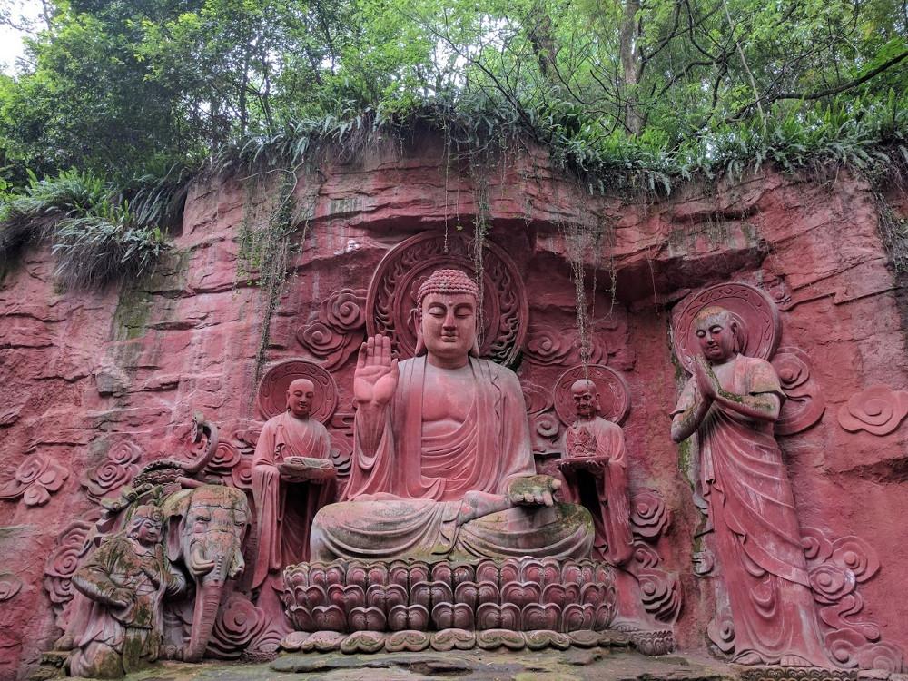 Emeishan statue Bouddhiste   Chine