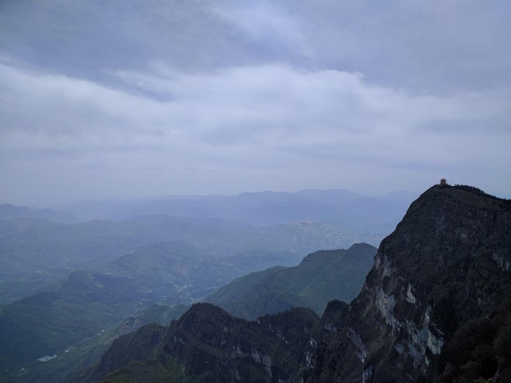 Vue du Mont Emei   Chine