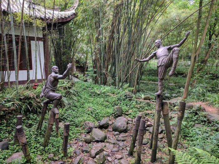 Temple du Kung-Fu à Emeishan   Chine