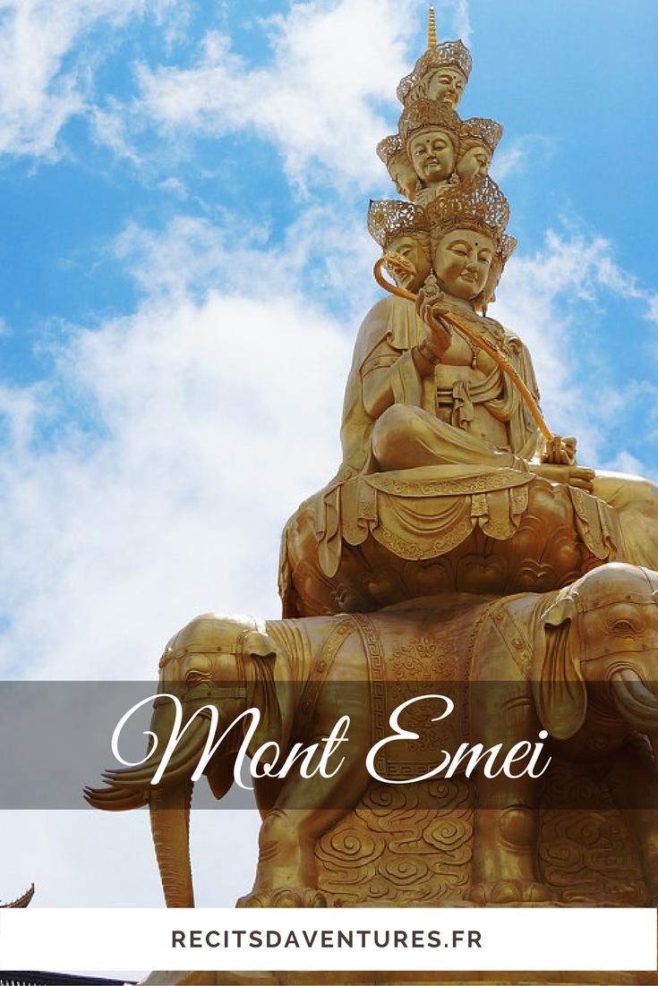 Statue dorée du Mont Emei, Emeishan dans le Sichuan | Chine