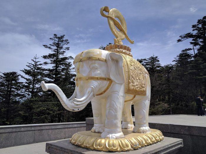 Éléphant blanc du Mont Emei | Chine