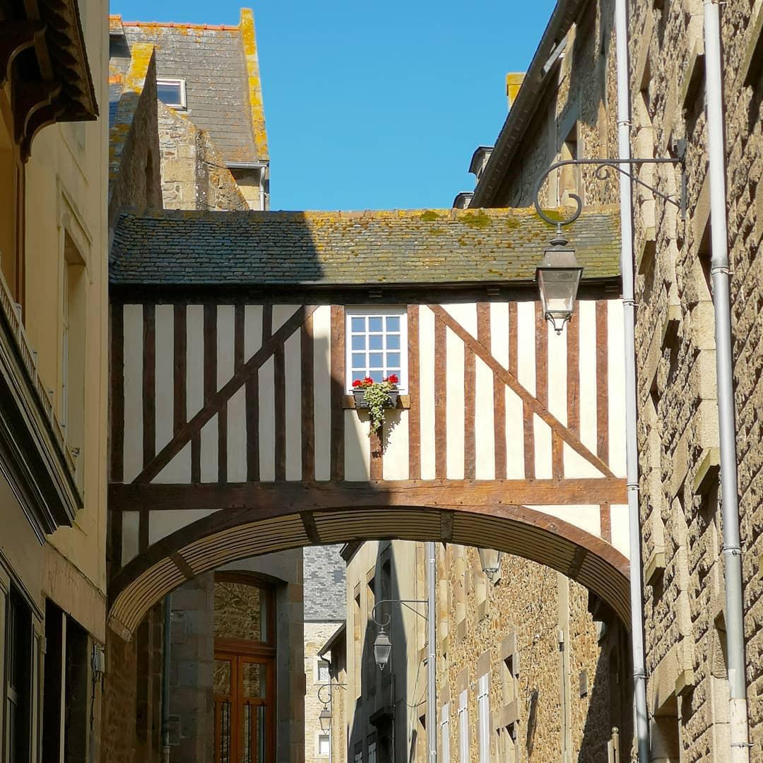 Ville de Saint-Malo intramuros en Bretagne