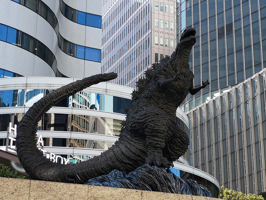 Statue Godzilla à Tokyo | Japon