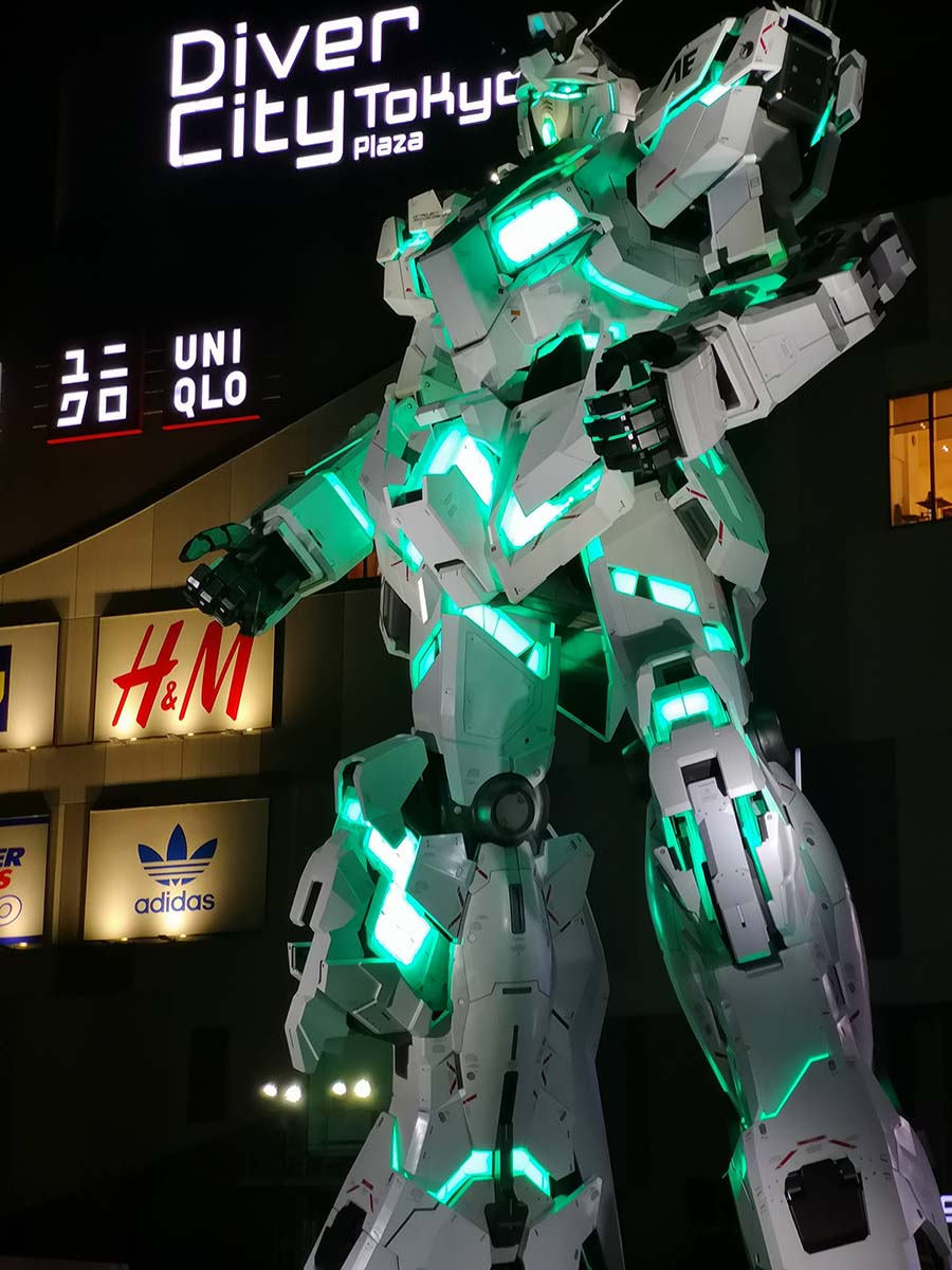 Unicorn Gundam Statue d'Odaiba à Tokyo | Japon
